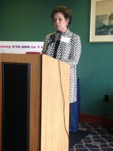 Lori Schlessman presenting Al's Clinic.   April 13, 2017
